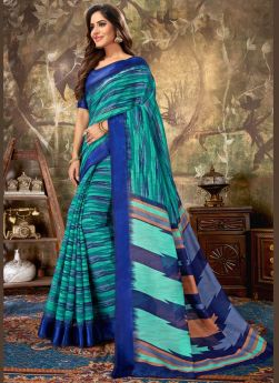Latest Lauched Peacock Green Saree