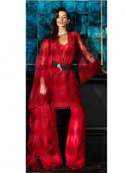 New Launching Red Net Party Wear Pakistani Suit