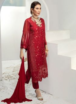 Red Color Georgette Indian Pakistani Suits