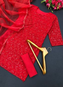 Red Sequence Salwar Suit